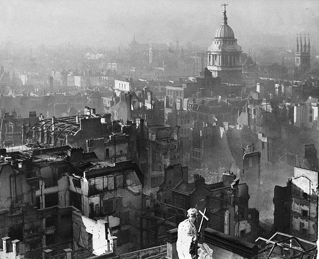 Londres après bombardement
